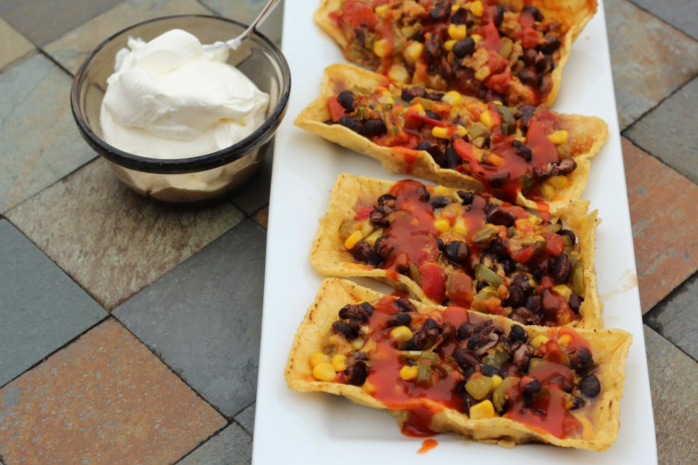 Easy Taco Boats Hybrid Recipe with Black Beans dinner meal for family dinner