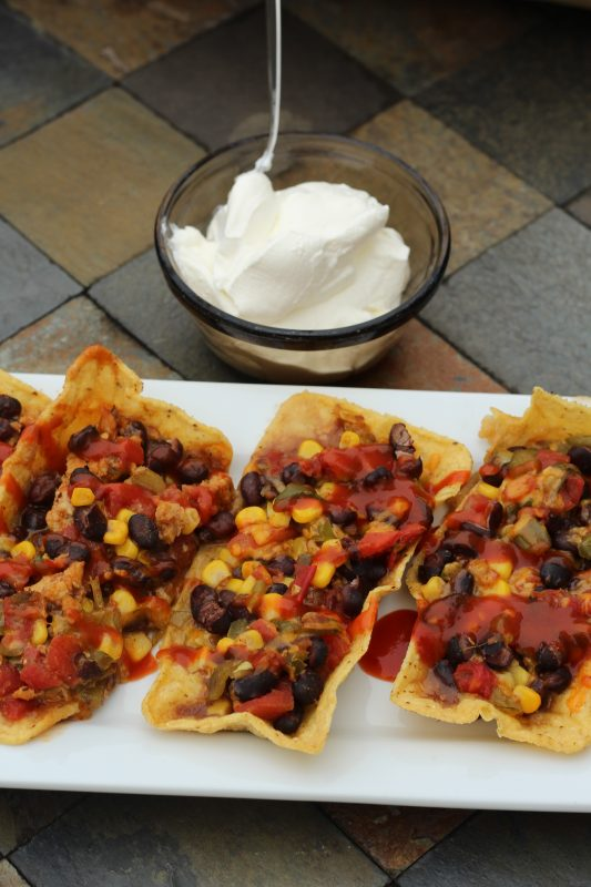 Easy Taco Boats Hybrid Recipe with Black Beans meatless and some meat portions