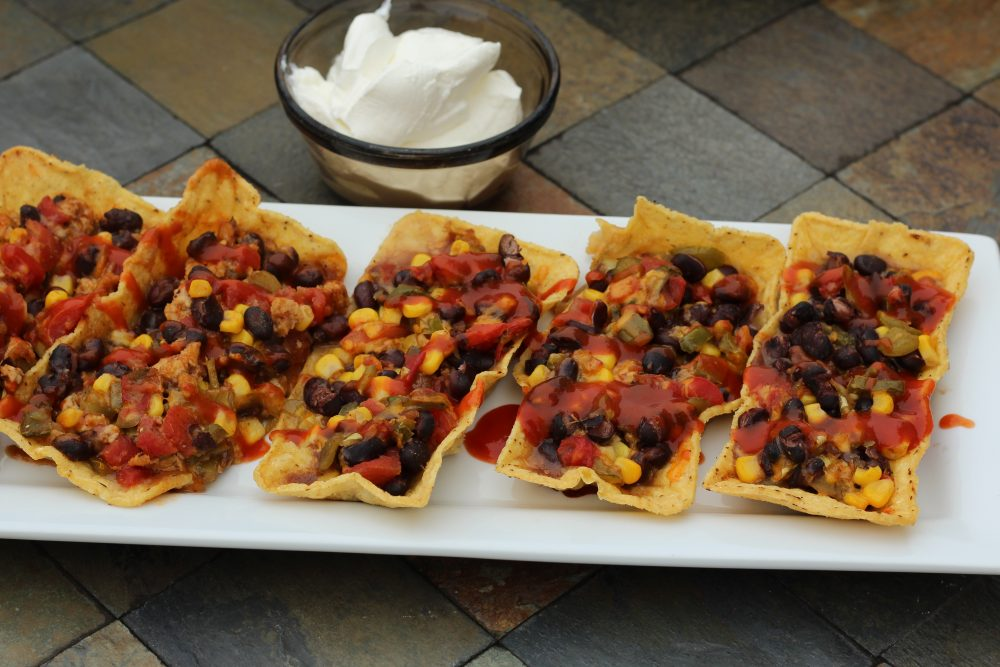 Easy Taco Boats Hybrid Recipe with Black Beans vegetarian and meat split table meal