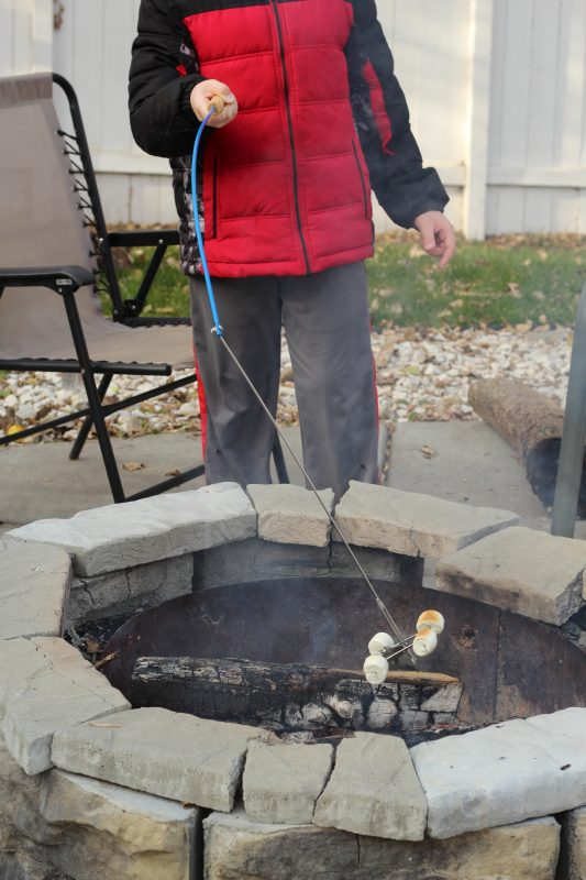 family camping ideas food roasting stick