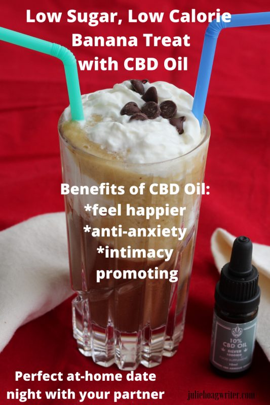 Low sugar low calorie banana treat with cbd oil feel happier anti-anxiety