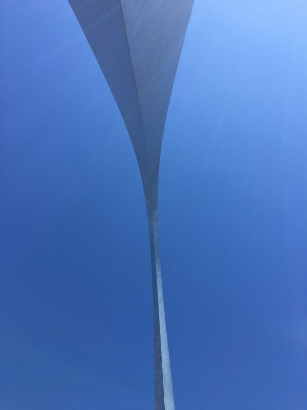View from under the Arch.