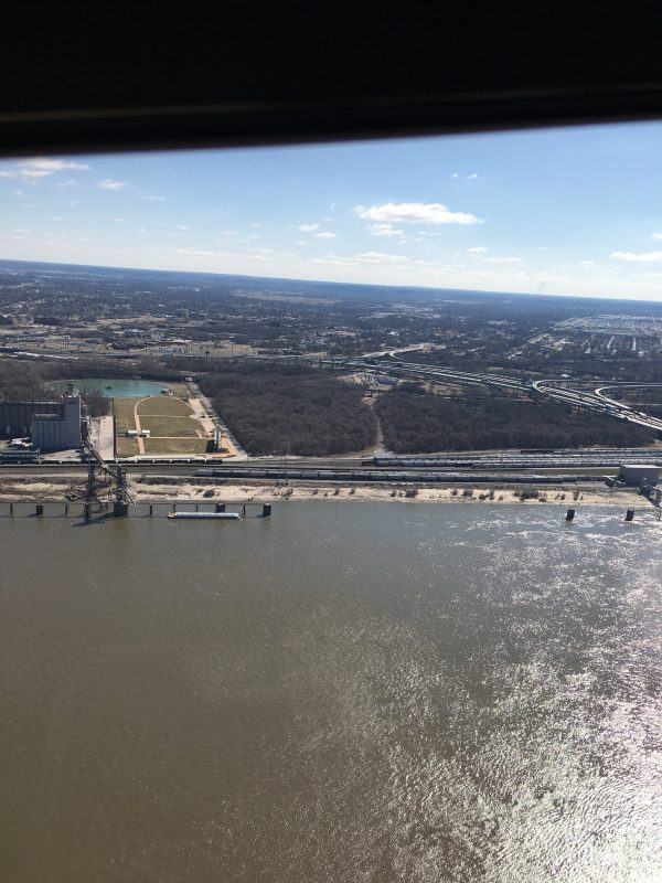 View of the river while up in the Arch.