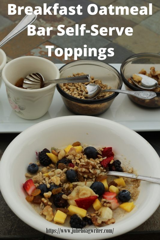 Breakfast Oatmeal Bar Self-Serve Toppings