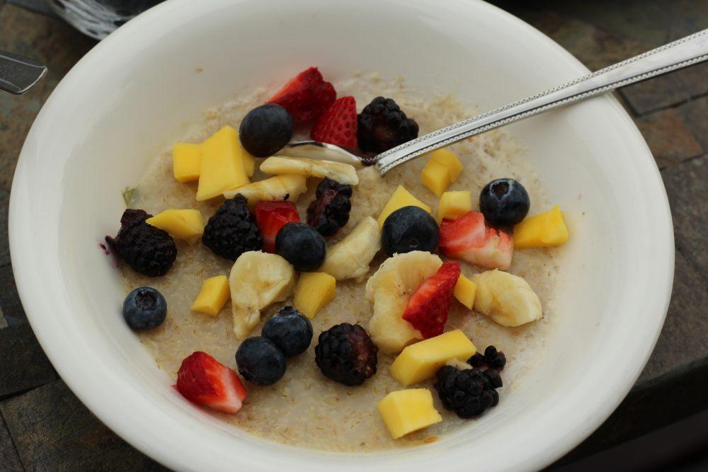 Fruit toppings for oatmeal