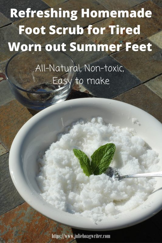 Refreshing Homemade Foot Scrub for Tired Worn out Summer feet