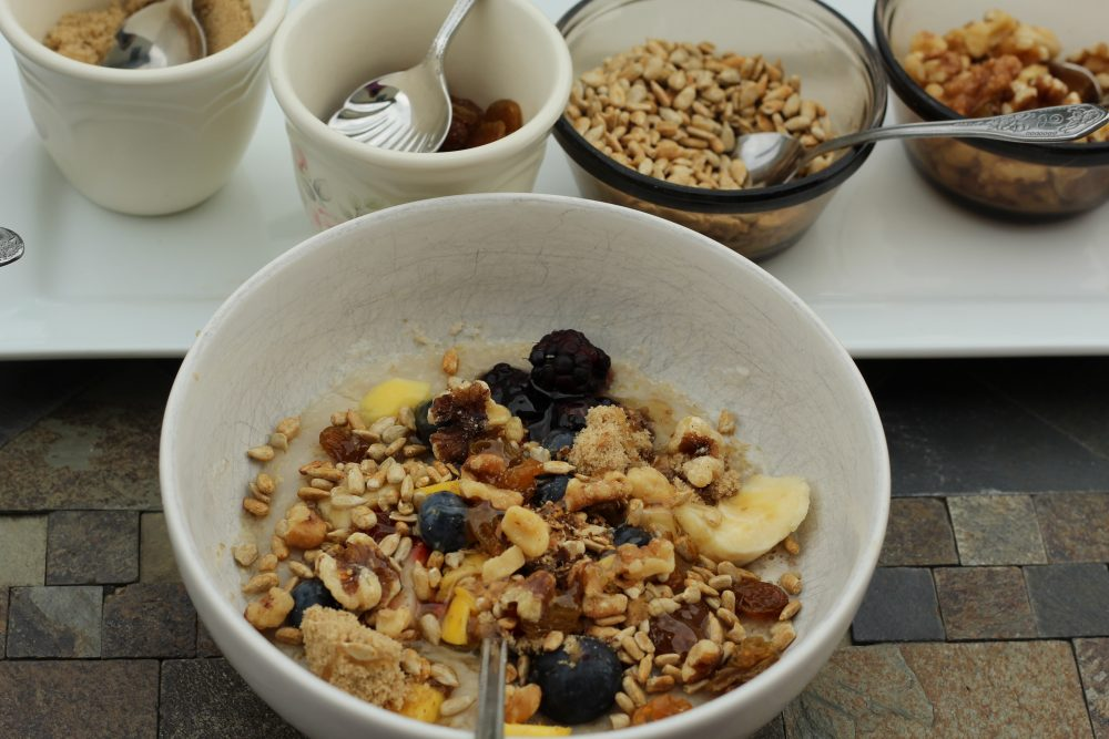 Oatmeal and toppings