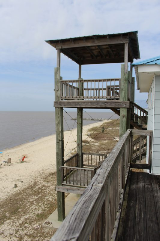 Seaside house rentals beach house family vacation on the Gulf of Mexico 2 tiered beach viewing tower