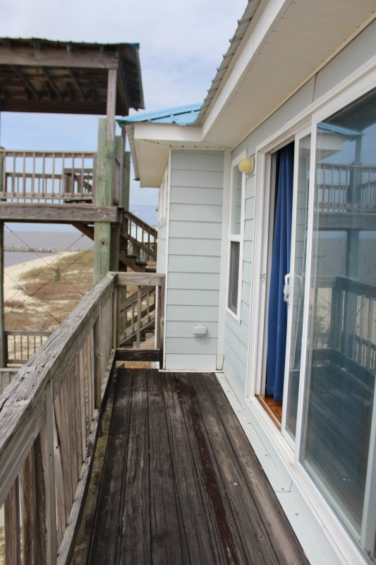 Seaside house rentals beach house family vacation on the Gulf of Mexico balcony off the master bedroom