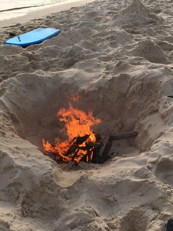 beach bonfire sand pit