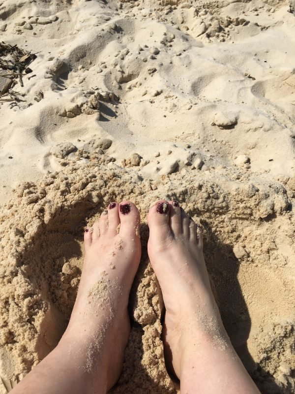 Love  to feel my feet in the white sand of the beach