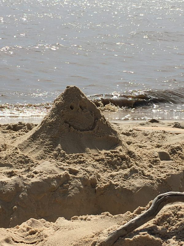 sand sculpture on the beach