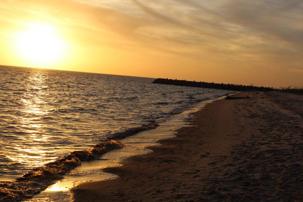 beautiful sunset Gulf of Mexico