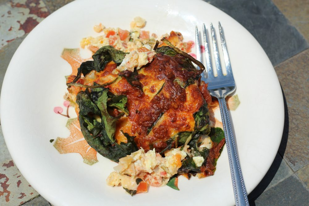 Air Fryer Egg Scramble with Spinach