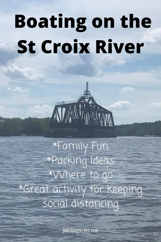 Boating on the St Croix River family fun