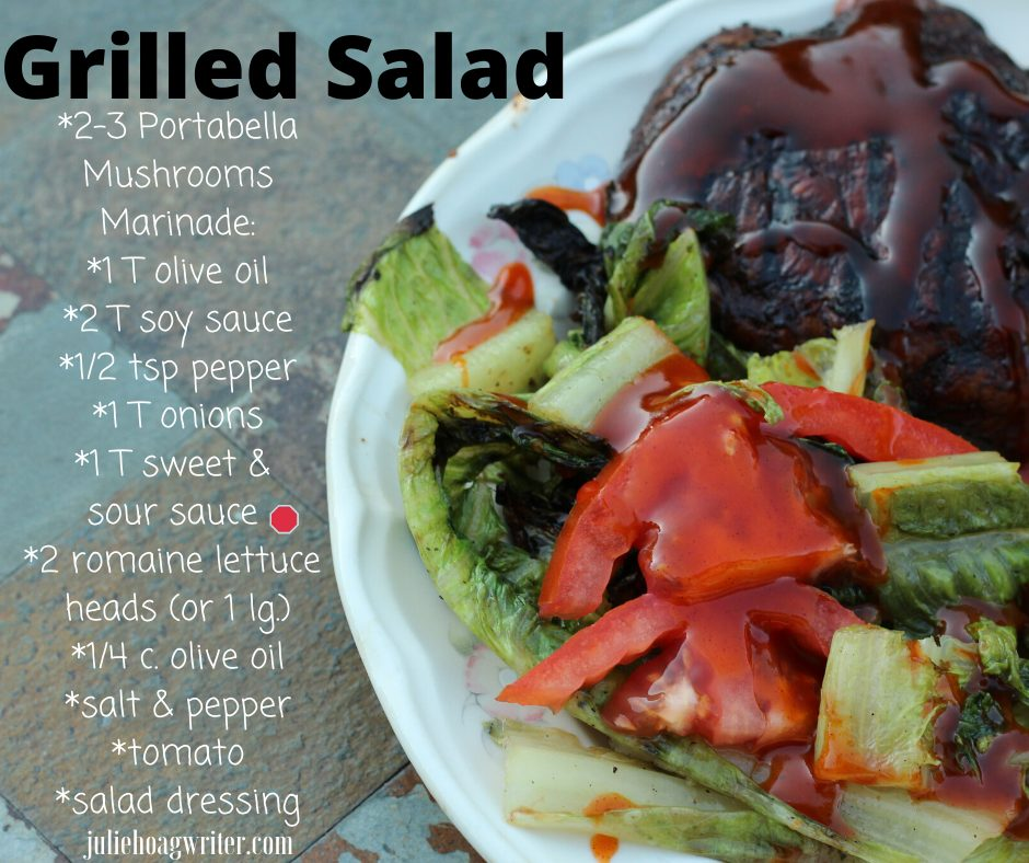 grilled salad recipe a vegetarian side dish or main entree