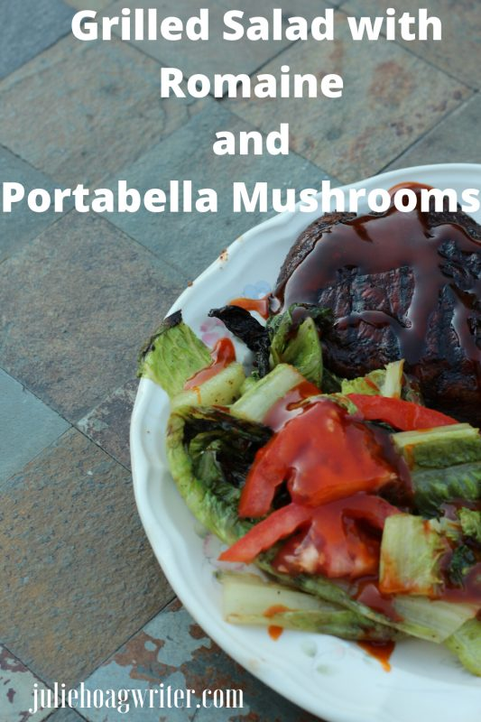Grilled Salad with Romaine and  Portabella Mushrooms