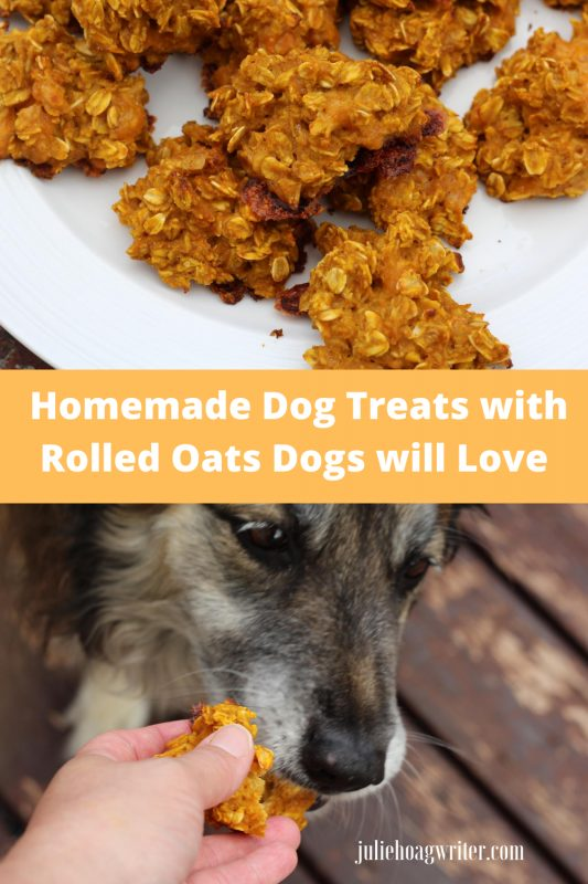 Homemade Dog Treats with Rolled Oats Dogs will Love