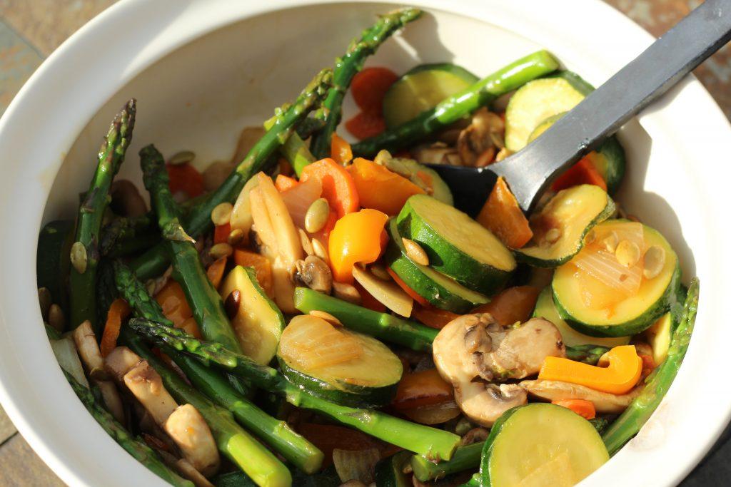 autumn blend veggies dish made with Yondu natural seasonings sauce