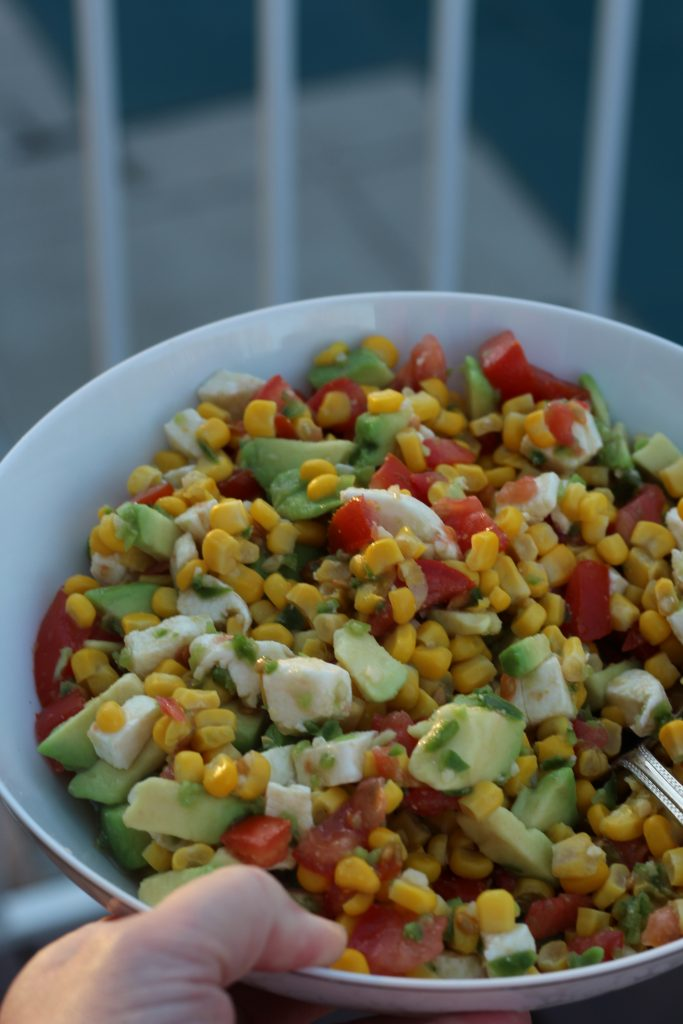 avocado corn and tomato salad