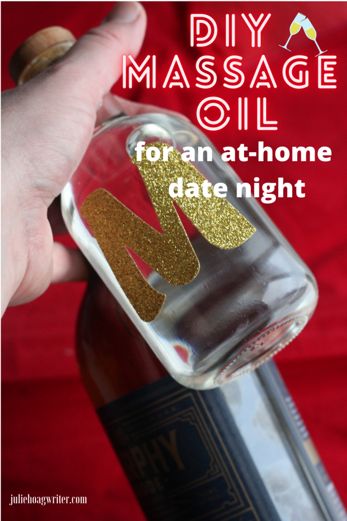 DIY massage oil and wine for an at home date night